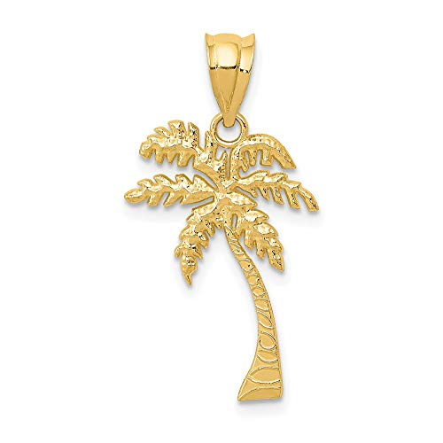 Saris and Things 14k gelbgold Mini-Palme-anhänger