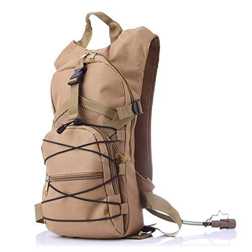KADDGN Hydratation-Rucksack, Halbtageswanderrucksack mit 2.5L BPA-frei-Wasser-Blasen, Leicht Isolierfach Outdoor Gear für Wandern Biken Camping,C