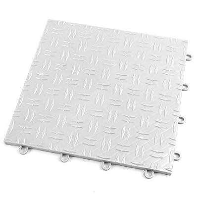 IncStores Diamond Grid-Loc Garage Flooring Snap Together Mat Drainage Tiles