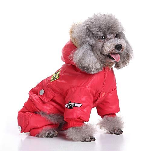 Smoro Winter Mantel Weste Jacken Schneeanzug Bekleidung vierbeinige Air Force Kleidung für kleine mittel große Hunde