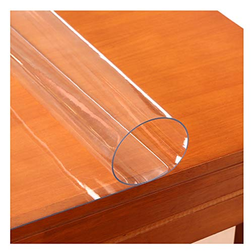 ZWYSL Protector Mesa Mantel Impermeable De PVC Anti-Quemaduras 1,5 Mm, 2 Mm Mantel Plastico No Lavar Estera De Mesa De Café Placa De Cristal Transparente (Color : 1.5mm, Size : 90X140cm)