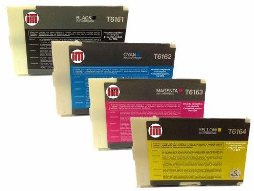 Ink Master - SET 4 Cartuccia rigenerata EPSON T6161-2-3-4 CMYK per Epson B-300 B-310N B-500DN B-510DN B300 B310 B500 B510
