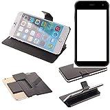 K-S-Trade® Schutz Hülle Für Cyrus CS 22 Schutzhülle Flip Cover Handy Wallet Case Slim Handyhülle Bookstyle Schwarz