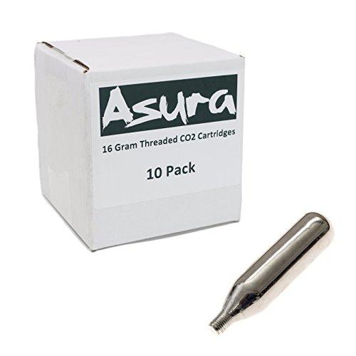 Asura 16 Gram CO2 Threaded Cartridges 10 Count