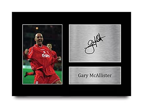 HWC Trading Fotografía impresa de Gary McAllister Liverpool Gifts para aficionados al fútbol y seguidores