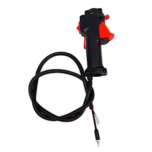 Entweg Cable del Acelerador, Cable del gatillo del Acelerador con Interruptor de manija de 26 mm Utilizado para cortacésped Accesorios para cortacésped con Cable