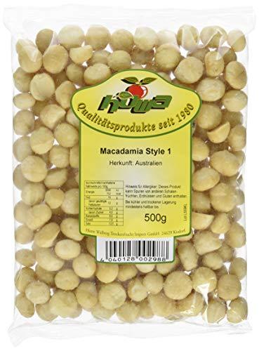 Macadamia Nüsse naturbelassen aus Australien - ungesalzen, ungeröstet, roh, ohne Schale, ohne Zusätze - 500 g ganze Macadamianüsse