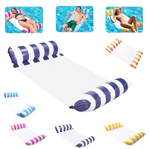 Hamaca hinchable, colchoneta de aire para piscina, hamaca, cama hinchable para piscina, azul marino