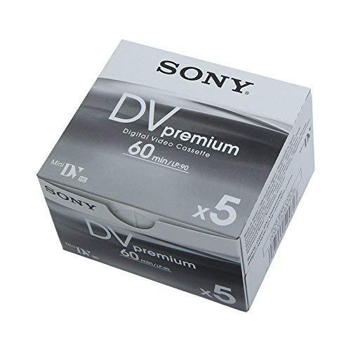 Sony 4X1DVM60PR - Cintas Mini DV para videocámara (Pack 4+1, 60 Minutos)