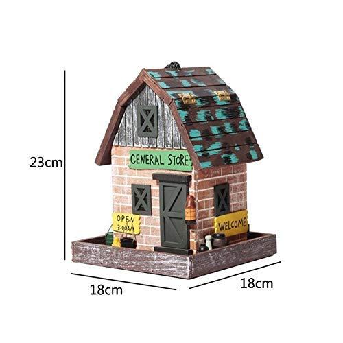 MJY Vogelhäuschen aus Holz zum Aufhängen im Freien Vogelhäuschen Umweltschutz Spielzeug mit Deckel Wasserdichtes Kindergeschenk Vogelhäuschen Kreatives Zuhause