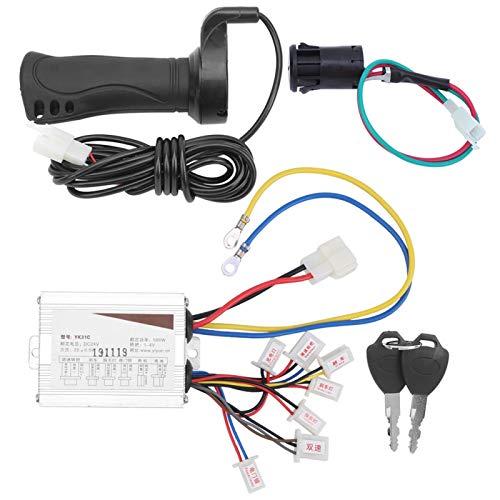 Controlador de Bicicleta eléctrica, Acelerador de Pulgar, Kit de Manillar de Acelerador 24V 500W Cerradura de Puerta eléctrica Impermeable para Scooters eléctricos Bicicleta eléctrica