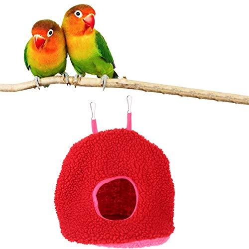 shuxuanltd Jaulas para Agapornis Cama Hamster Pájaro Hamaca Budgie Juguetes Choza para Loro, periquitos, periquitos, cacharros Aves de la Hamaca Red,15