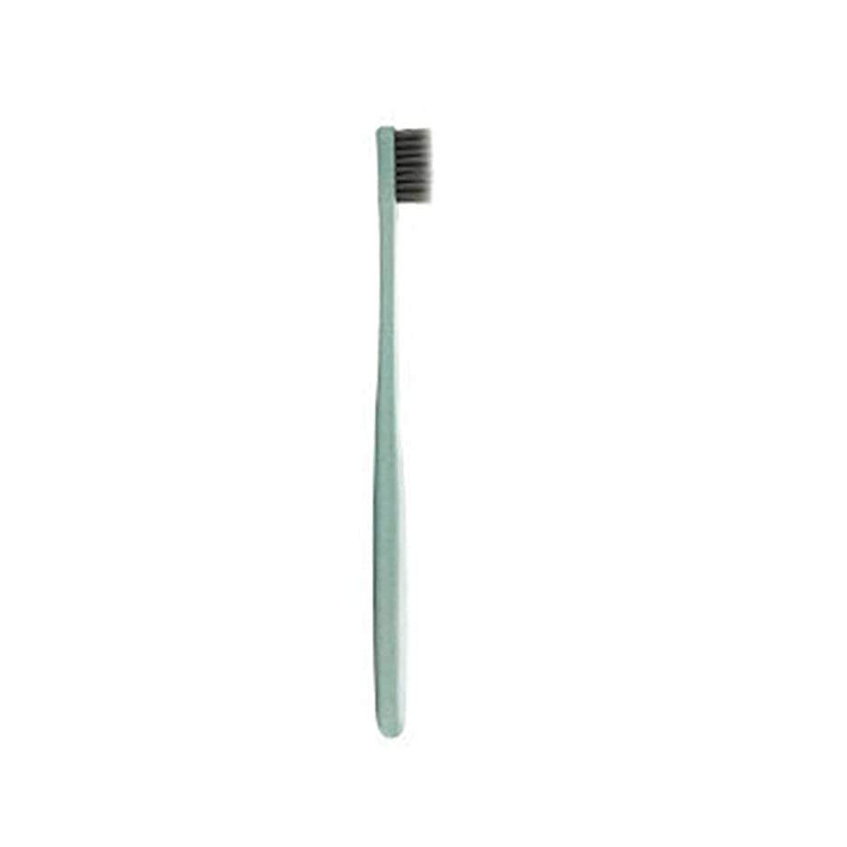 赤ちゃんキリマンジャロ許されるK-866小麦わらの歯ブラシ歯のクリーニングブラシソフトスリム竹炭毛ブラシ大人の子供の歯ブラシ