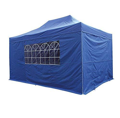 AIRWAVE Pavillon Essential, Pop-Up-Unterstand mit Seitenwänden, wasserdicht, 3 x 4,5 m, Blau