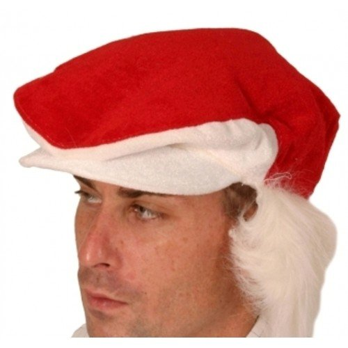 Visiera Cappello di Babbo Natale, Rosso e Bianco Pelliccia Capelli