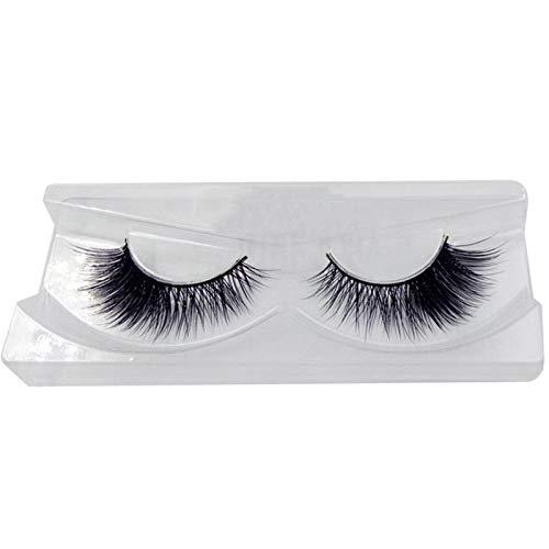 Faux cils, 6D Maquillage Nude Naturel Eye Tail Allongé Cils Naturels Et Réalistes 1 Pairs Pack