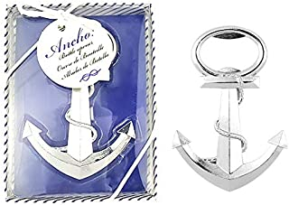 Pack of 20 Silver Nautical Theme Anchor Beer Bottle Opener Wedding Favors,Party Favors for Guest Souvenir Gift for Baby Shower Birthday Party Decorations and Supplies by JSSHI(Anchor Style)