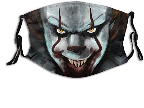 A Smile in The Dark Pennywise Unisex Balaclava Mouth Cover with Filter Windproof Dustproof Adjustable Scary Faces
