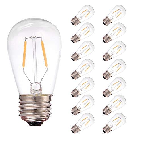 Luces para exteriores, E27 Vantage Edison Screw Bombilla LED, 1W S14 ST45...