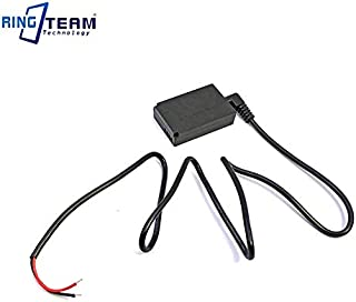 Pukido DC Coupler DR-E12 DRE12 LP-E12 + ACKE12 CA-PS700 Power Cable for Canon EOS Digital Cameras EOS M M2 M10 M50 M100 - (Plug Type: 3011 To DC Nake Wire)