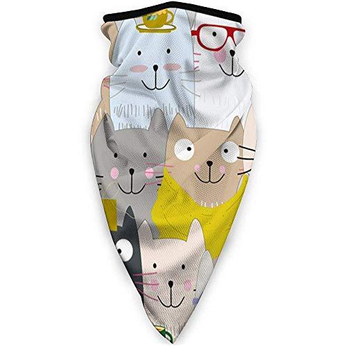 Lfff Vintage niedlichen frohen Weihnachten Kitty Tiere Baby Natur Schal Bandanas Hals Gamasche Mehrzweck-Gesichtsbedeckung