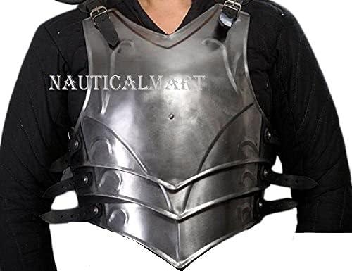 NauticalMart LARP Medieval Fantasy Costume free Steel Credence Armor Cuir Full
