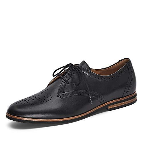 Gabor Femme Chaussures à Lacets, Dame Chaussures d'affaires, Chaussure Basse,Chaussures à Lacets,Classique,élégant,Schwarz (Cognac),39 EU / 6 UK