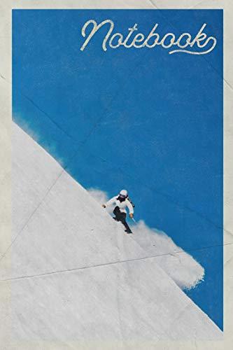 Notebook: Beaver Creek Skiing Beautiful Composition Book Journal Diary for Men, Women, Teen & Kids Vintage Retro Design for Off Piste Beginners