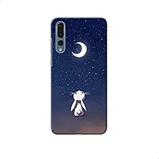 Moon Bunny Printed Back Cover For Samsung Galaxy A50 - Multi Color