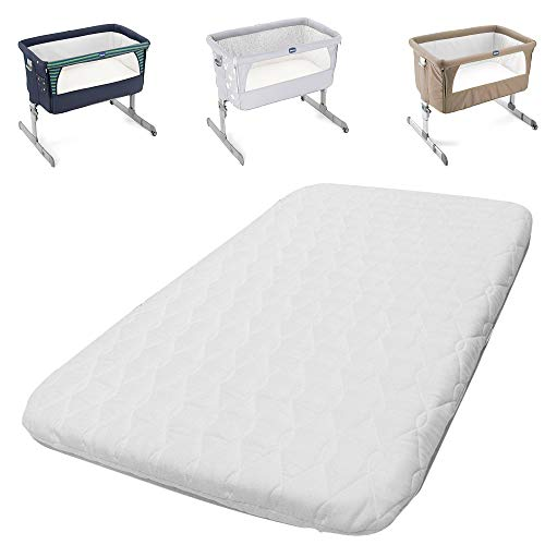 Next2Me Chicco Crib Mattress Compatible Bedside Toddler Deluxe Crib Next to Me - Comfortable & Fitted Infant Mattress - Breathable & Washable (83 x 50 x 5 cm)