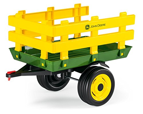 Review Of Peg Perego John Deere Stakeside Trailer Ride On, Green