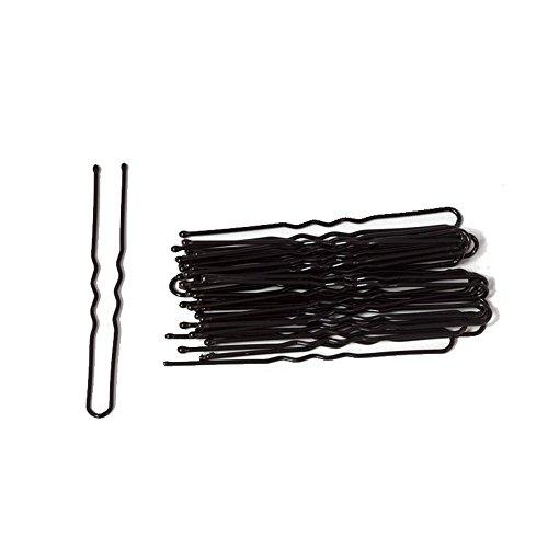 Accessoires Cheveux : 25 Épingles Métal Peint Noir 6cm