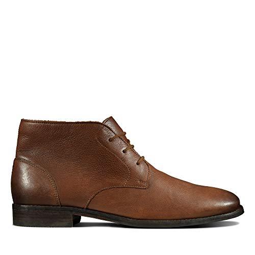 Clarks Herren Flow Top Chukka Boots, Braun (Tan Leather Tan Leather), 46 EU