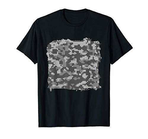 Digital Camo Camouflage Military Cool Novelty Lover Gifts Camiseta