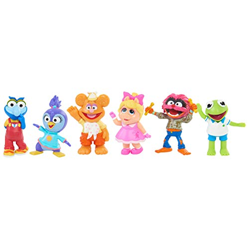 Muppets Babies Playroom Figure Set, 6 Pieces Include Kermit, Piggy, Fozzie, Animal, Summer Penguin, and Gonzo by Just Play