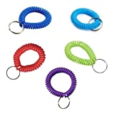 Wristband Keychain - Coil Plastic Spiral...