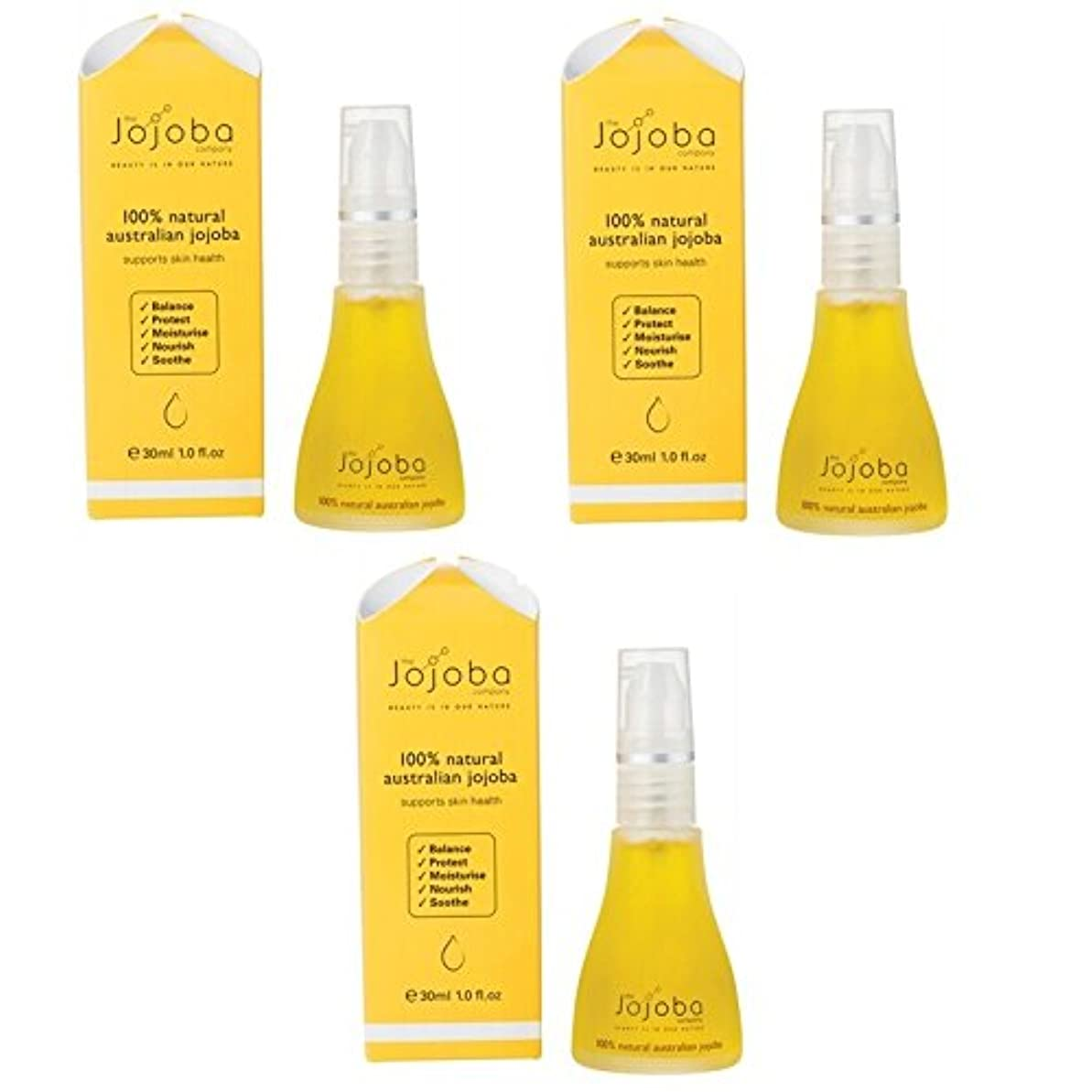 新年優雅空港the Jojoba Company 100% Natural Australian Jojoba Oil 30ml 3本セット [海外直送品]