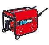 Linea HD Generador Eléctrico Gasolina con Ruedas Y Asas 15L 5500 Trifásico y Monofásico