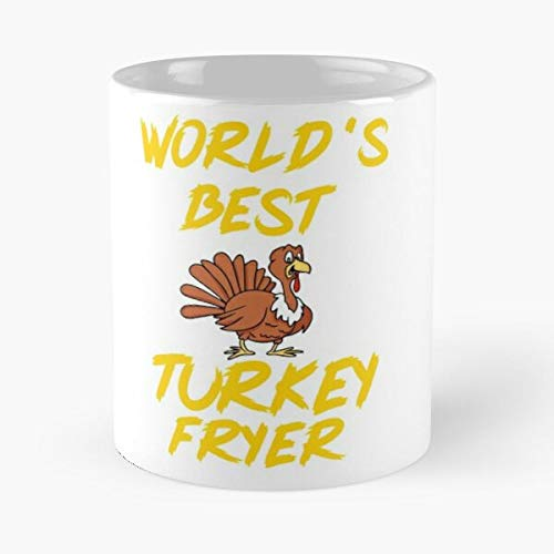 World's Best Turkey Fryer Tshirt Thanksgiving Shirt Funny Holiday Husband Hubb - The Coffee Mugs For Halloween, Holiday, Christmas Party Decoration 11 Ounce White Davidfin.