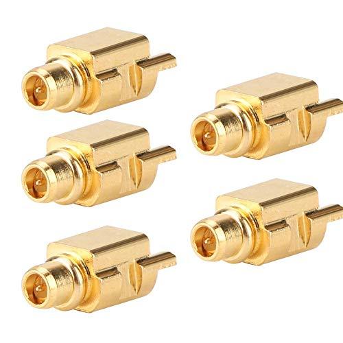 5 STKS MMCX-JEF RF Coaxiale Connector SMA Mannelijke Antenne Adapter Connector Plug PTFE Adapter voor Oortelefoon Plug, Printplaat RF Lassen