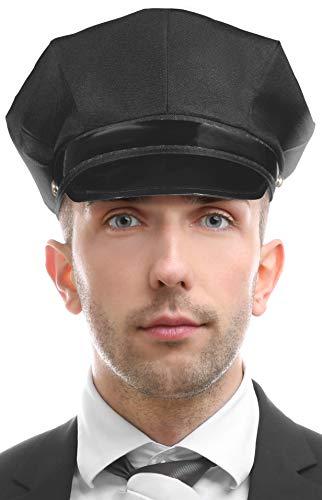 Balinco Chauffeur Mütze schwarz - die perfekte Ergänzung für Ihr Kostüm als Hochzeitsfahrer oder Fahrer / Chauffeur