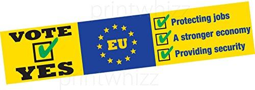 UE Base en Europe sortie brexit voiture Bumper Sticker fenêtre Porte Business Van Taxi