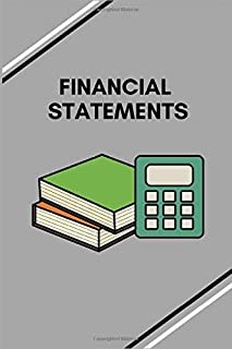FINANCIAL STATEMENTS: Simple Balance sheet or Cash Book Accounts Bookkeeping Journal for Small and big Businesses | Log, Track, & Record Expenses & Income