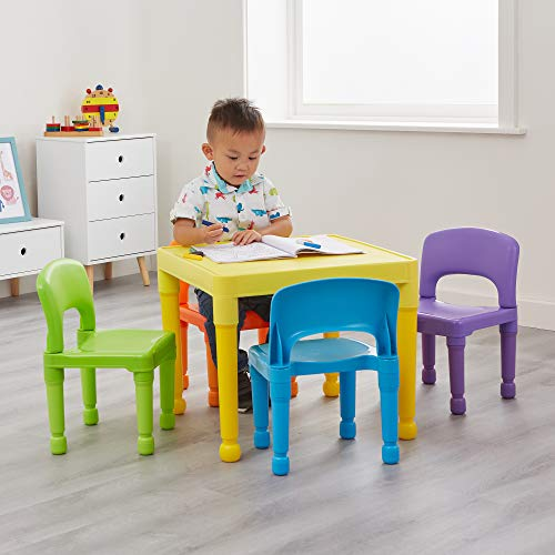 Liberty House Toys Kinder Tisch und 4Stühle Set, Kunststoff, Mehrfarbig
