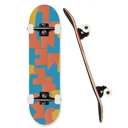 SHIJING EIN Doppel Kick-konkave Skateboard 101A Rollenhärte High Rebound Rollen FüR Kinder Jungendliche Und Erwachsene für Cruising, Carving, Free-Style
