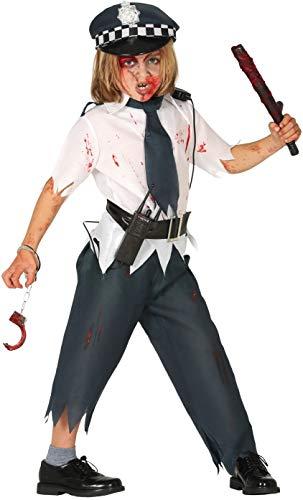 Boys Dead Zombie Bloody Policeman Uniform Halloween Fancy Dress Costume Outfit 5-12 Years (10-12 Years) -  Fancy Me, 4374