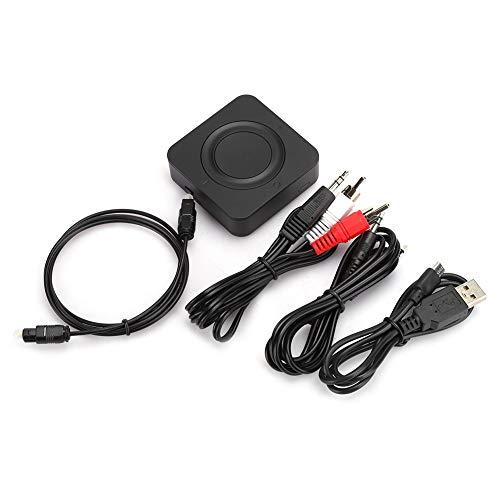 Receptor transmisor Bluetooth 5.0 2 en 1, Adaptador de Audio BT 5.0 + EDR para Sistema estéreo doméstico/Coche, Toslink Digital óptico y AUX de 3,5 mm