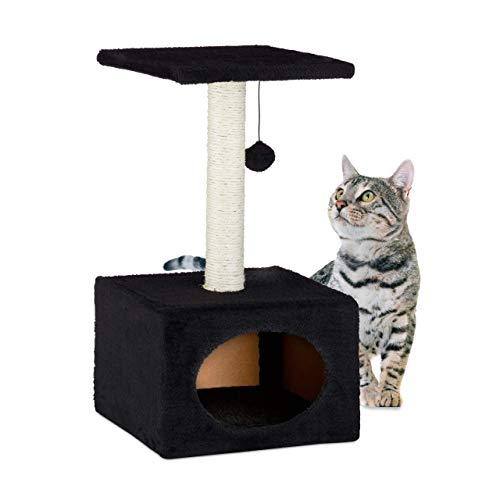 Relaxdays 10023924_46 Árbol Rascador para Gatos con Cama Cu