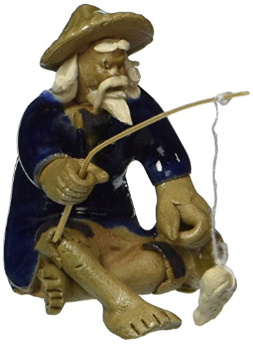 Bonsai Boy's Ceramic Figurine - Mudman Fisherman 1 25x1 25x1 75