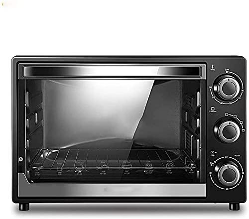 Mini horno con placas calientes 32L, control de temperatura del material metálico 50 ° -230 ° Control de tiempo 0-60 minutos, adecuado para el horno de dormitorio familiar escolar